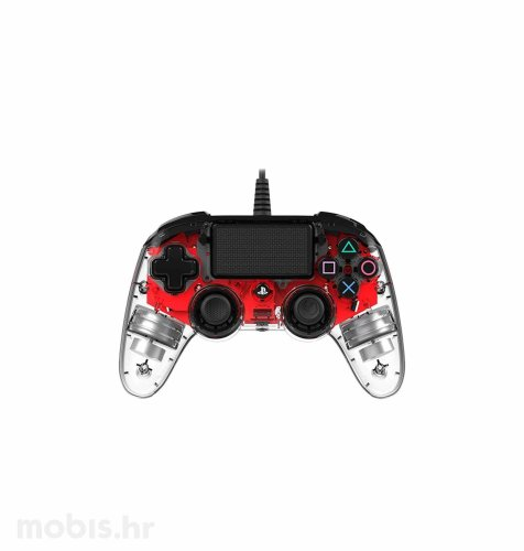 Bigben Nacon PS4 kontroler: prozirno-crveni