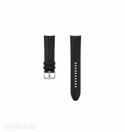 Silikonski remen za Samsung Galaxy Watch 3 (22 mm): crni