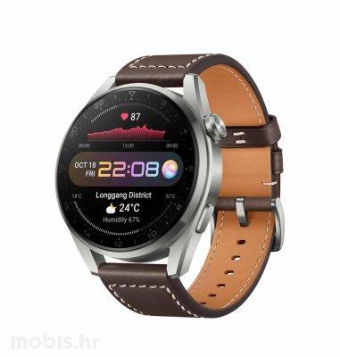 Huawei Watch 3 Pro pametni sat: smeđi