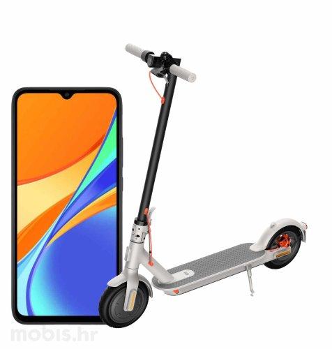 Xiaomi Mi Electric Scooter 3: sivi + Xiaomi Redmi 9C NFC