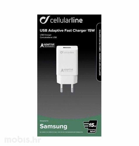 Cellularline adapter za brzo punjenje 3A/15W: bijeli