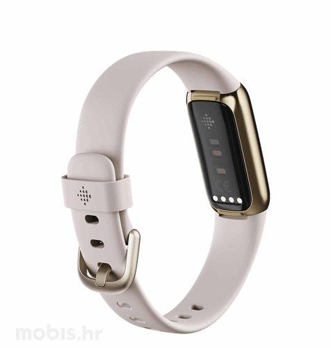 Fitbit Luxe pametna narukvica: bijelo – zlatna